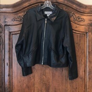 Studio leather jacket.